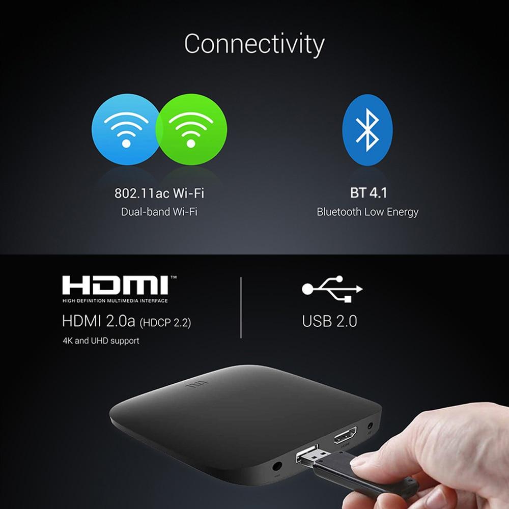 Image 3 - Xiaomi mi tv BOX 3 Smart 4K Ultra H.265 HD 2G 8G Android 8,0 фильм wifi Google Cast Netflix медиаплеер телеприставка Xiao mi Box-in ТВ-приставки и медиаплееры from Бытовая электроника on AliExpress - 11.11_Double 11_Singles' Day