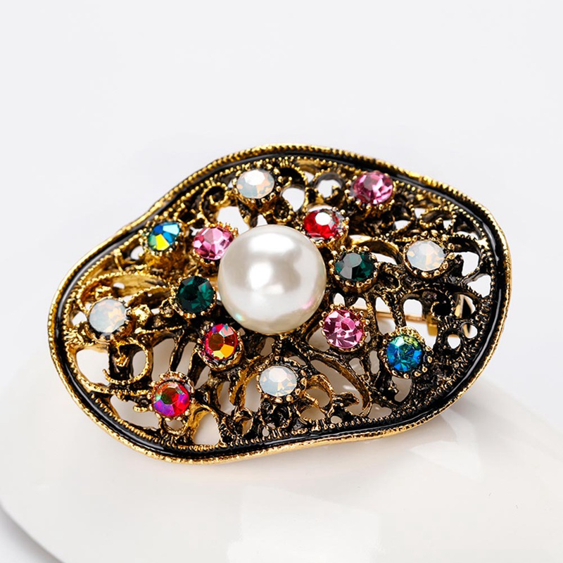 Clothers Dress Bride Accessories New Pins For Woman Broochs Fashion Star Jewelry Vintage Geometry Brooch Simulated Pearl