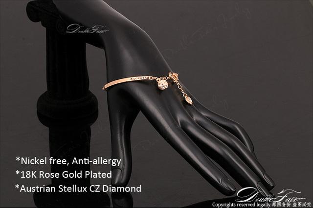 CZ Diamond Bracelet Gold Plated with Crystal Jewelry