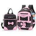 2016 New Brand Kid School Bags Set Girls Princess Backpacks Cute Children Schoolbags Waterproof Children Book Bags Mochila