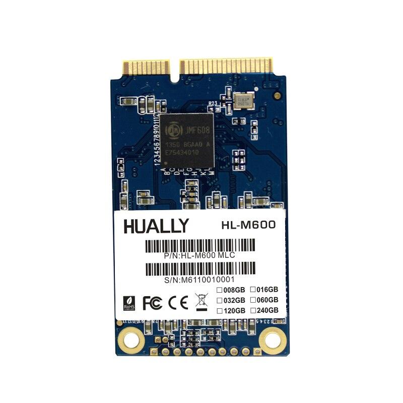 Hually MSATA MSATA3 SSD más competitivo Series 16 GB 32 GB 60 GB 120 GB 240 de estado sólido de disco disco duro para ordenador portátil
