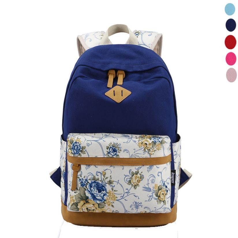 2016 Hot Sale Unisex Vintage Canvas Backpack Rucksack School Satchel Bag Bookbag zaini scuola Anne Shop