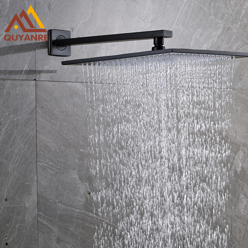 Free Shipping 8 Inch Rainfall Shower Head Bathroom Brass Showerhead + Wall Mount Shower Arm/holder free shipping wall mount 10 inch stainless steel rain shower head brass shower arm chrome finish