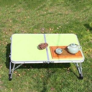 Image 4 - VILEAD Portable Folding Picnic Table Aluminum Ultralight Waterproof Foldable Hiking Camping Self Driving Travel 61*42*27 cm