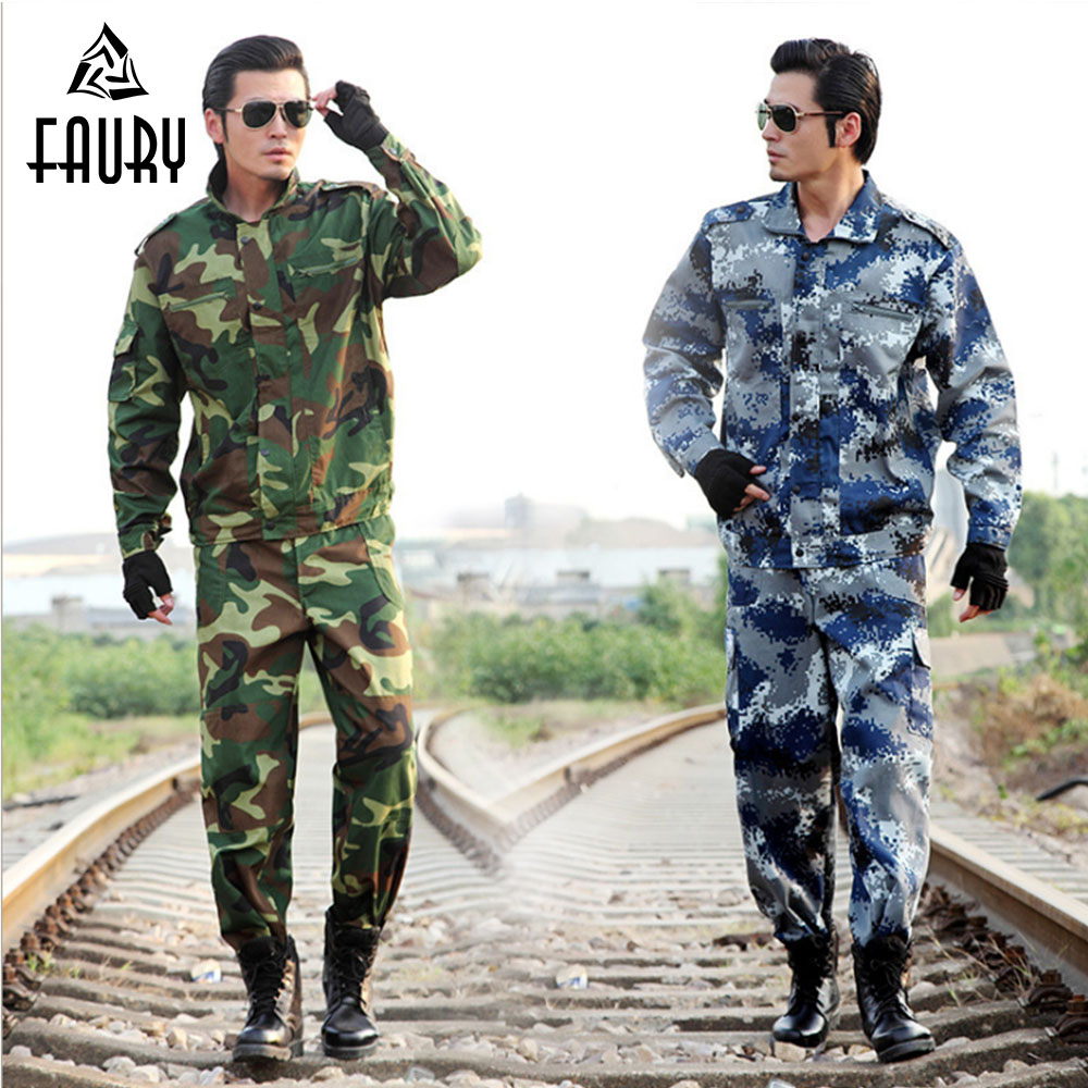 Men's Tactical Camouflage Military Uniform Hunting Clothing Suits Male Military Jacket Outdoor Tactical Training Uniform XL-6XL