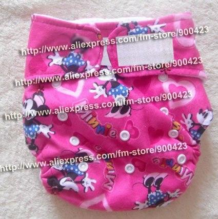 Детских подгузников-1 шт. тканевых подгузников+ 2 шт. вставок), тканевые подгузники в карманном стиле - Цвет: Minnie