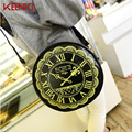 Fashion Casual Vintage Shoulder Bag Messenger Bags Elegant Ladies Round Watch Purse Clutch Summer Crossbody Bags High Quality