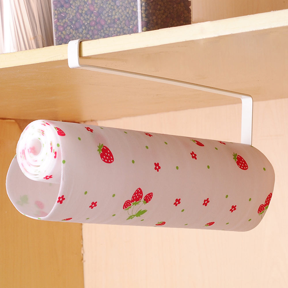 Bathroom Paper Rack Under Cabinet Paper Rolls Towel Hanging Kitchen Towel Rack Toilet Roll Holder Racks Stainless Metal anho stainless steel paper holder kitchen hanger tissue roll towel rack toilet bathroom accessories hanging storage organizer