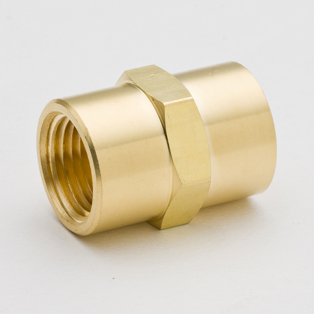 цена на Pack of 2 Legines Brass Pipe Fitting Hex Coupling Coupler 1/8 1/4 3/8 1/2 NPT Female Thread Plumb Water Gas Quick Connector