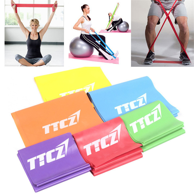 Athletic Rubber Bands Resistance Band Workout Fitness Gym Equipment Rubber Latex