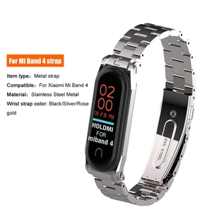 Image 4 - Stainless Steel For Xiaomi mi band 4 3 2 strap Metal Wristband For Mi band 4 Bracelet Accessories Miband 4 NFC Global wristbands