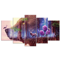 5d Diamond embroidery deer In The Forest 5pcs Multi picture by number diy diamond painting Cross Stitch New Year Decor ZP 1388