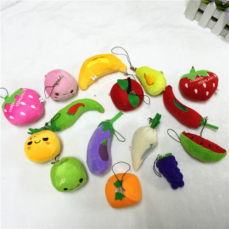FANLUS   Mini Fruits and Vegetables Plush Toy Stuffed Toys Kids Party Favors