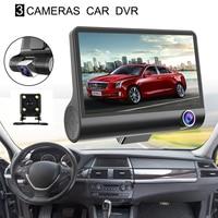 4.0'' 3 Way Car DVR Camera Video Recorder Rear View Auto Registrator With Two Cameras Dash Cam Dual Lens Blackbox