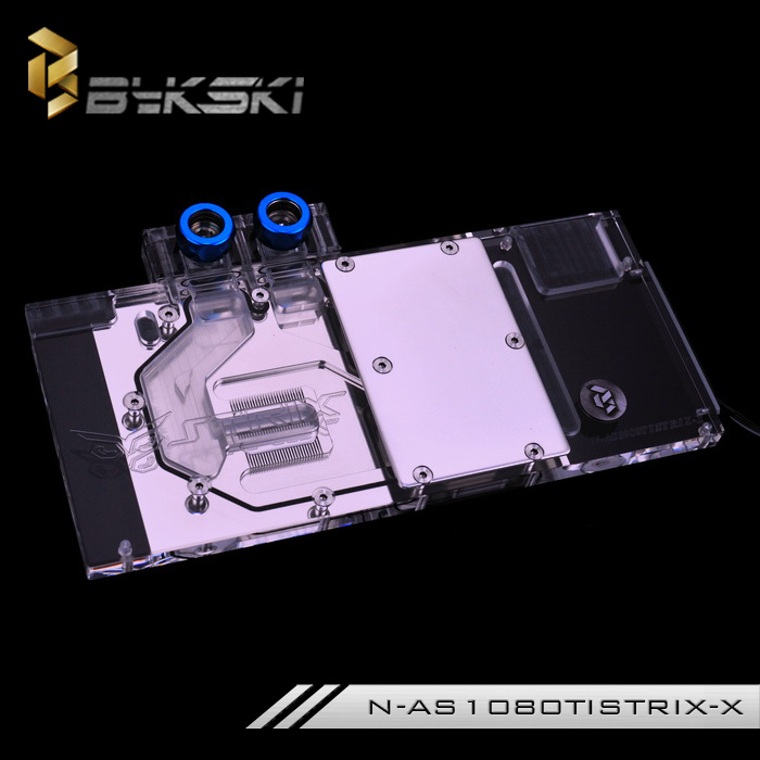 ASUS N-AS1080TI STRIX-X GPU Block for ASUS ROG STRIX GTX1080Ti 1080 1070 1060 2pcs gpu rx470 gtx1080ti vga cooler fans rog poseidon gtx1080ti graphics card fan for asus rog strix rx 470 video cards cooling
