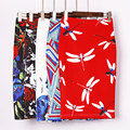 Kigo vintage mujeres falda lápiz de cintura alta red dragonfly imprimir bodycon ladies midi falda lápiz delgado falda jupe femme kb2464h