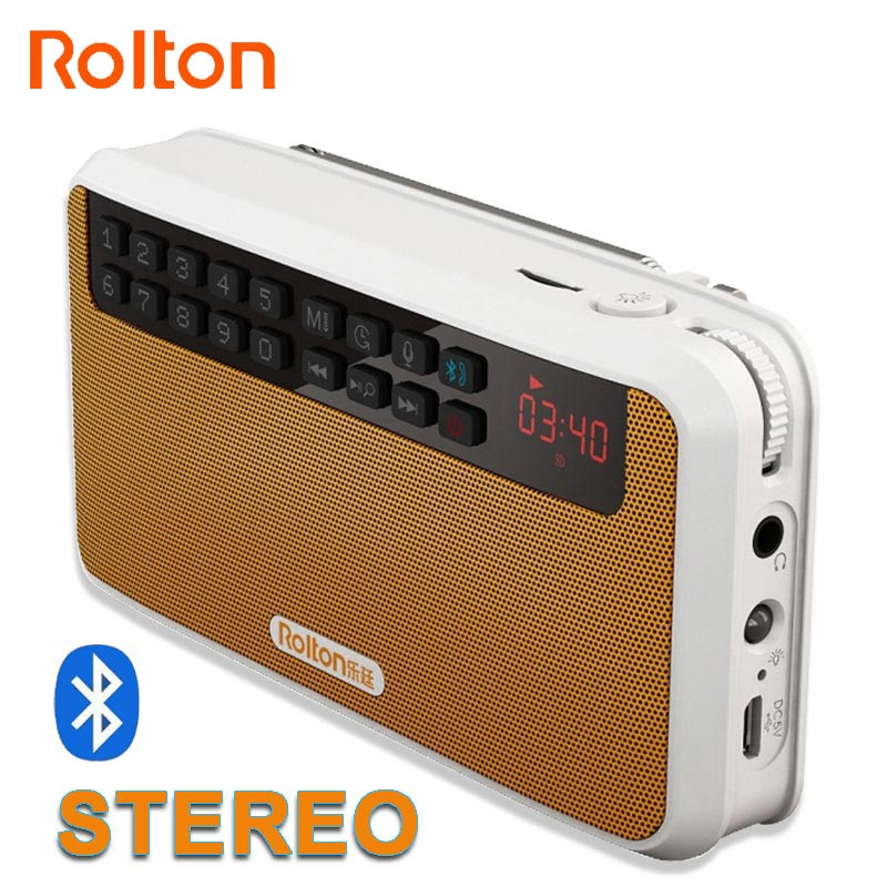 Rolton E500 Wireless Bluetooth Difuzor Mini 2.1 HIFI Stereo Difuzor Subwoofer Suport TF Card / FM / mâini libere cu lanternă LED