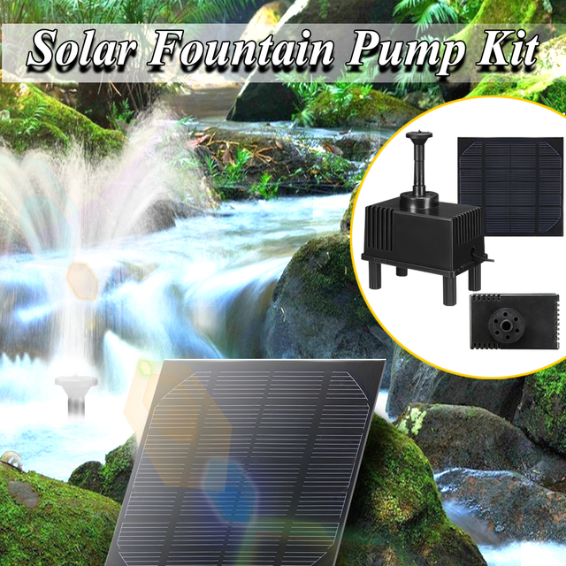 Electrical 3W Solar Panel Powered Submersible Fountain Pump Water