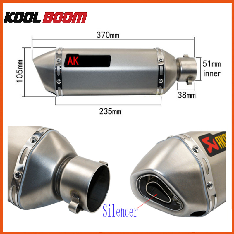 Modificirani laserski akrapovic Izpušni CBR CB400 CB600 CBR600 - Rezervni deli in dodatki za motorna kolesa