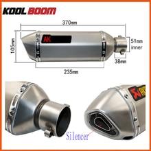 Laser modificado de Escape akrapovic CBR CB600 CB400 CBR600 CBR1000 Motocicleta Silenciador Del Tubo De Escape CBR250 CBR125 YZF600 escape moto