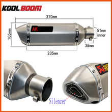 Modified laser akrapovic Exhaust CBR CB400 CB600 CBR600 CBR1000 Motorcycle Exhaust Pipe Muffler CBR250 CBR125 YZF600