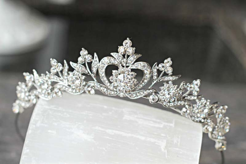 New style Hair Jewelry Vintage Silver Gold Crystal Tiara Princess Wedding Crown For Women Wedding Hair Accessories Headdress 6