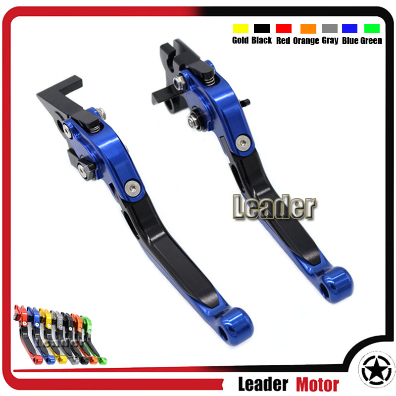 ФОТО For YAMAHA XSR 700 ABS XSR 900 ABS XV 950 Racer Motorcycle Aluminum Folding Extendable Brake Clutch Levers Blue