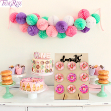 FENGRISE Wooden Donut Wall Holds Candy Sweet Cart Wedding Table Decoration DIY For Baby Shower birthday Party Decor