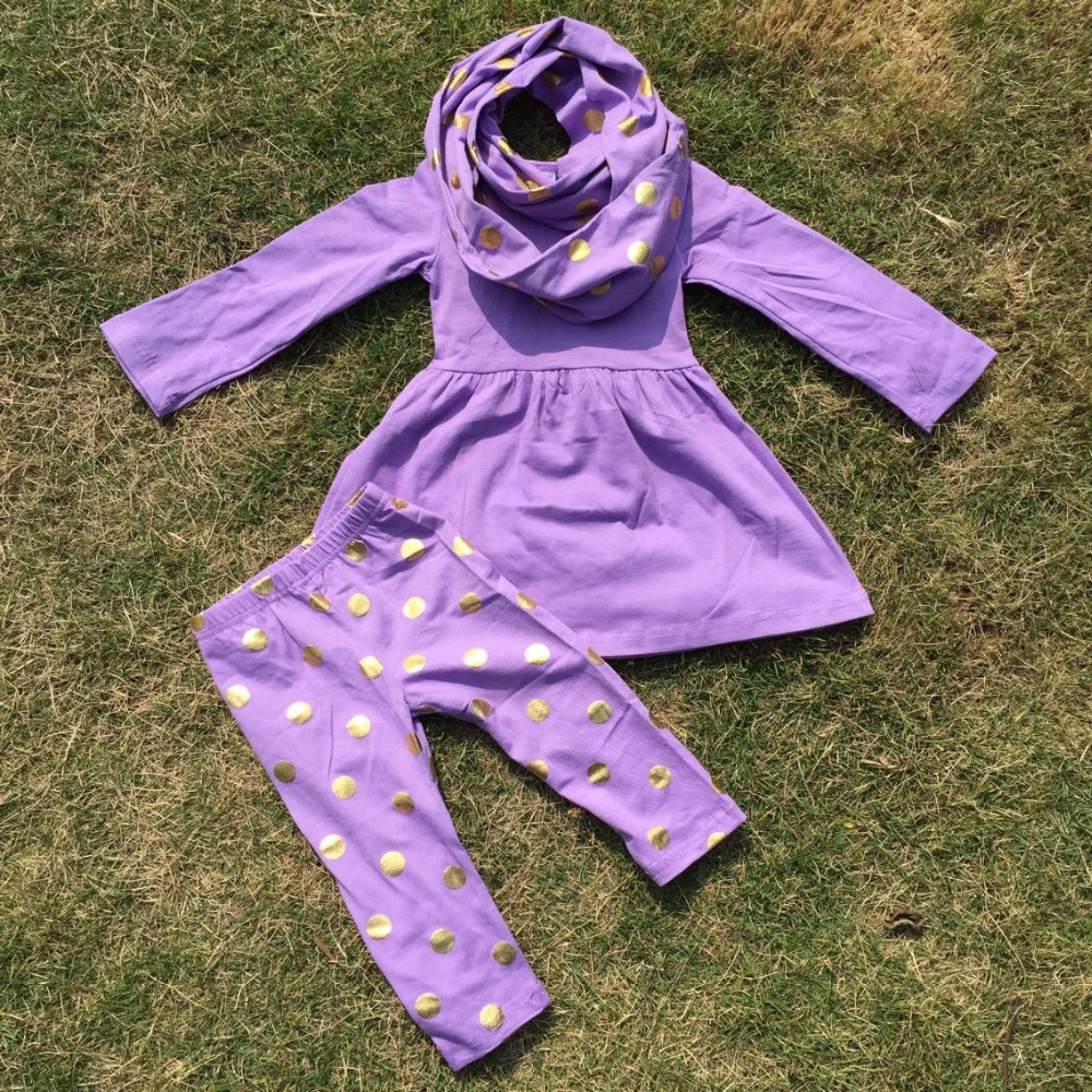 baby clothes FALL/winter OUTFITS girls 3 pieces sets girls golden polka dot pants girls boutique clothes kids purple top sets polka dot baby girls clothes backless flounced kid girls rompers jumpsuit playsuit one pieces outfits 0 18m blue pink purple