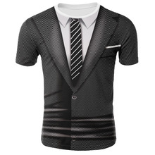 9e916dc26bd8f5 2018 NEUE 3d schädel lustige t shirts Männer Casual Gefälschte zwei stück 3D  Gedruckt T hemd