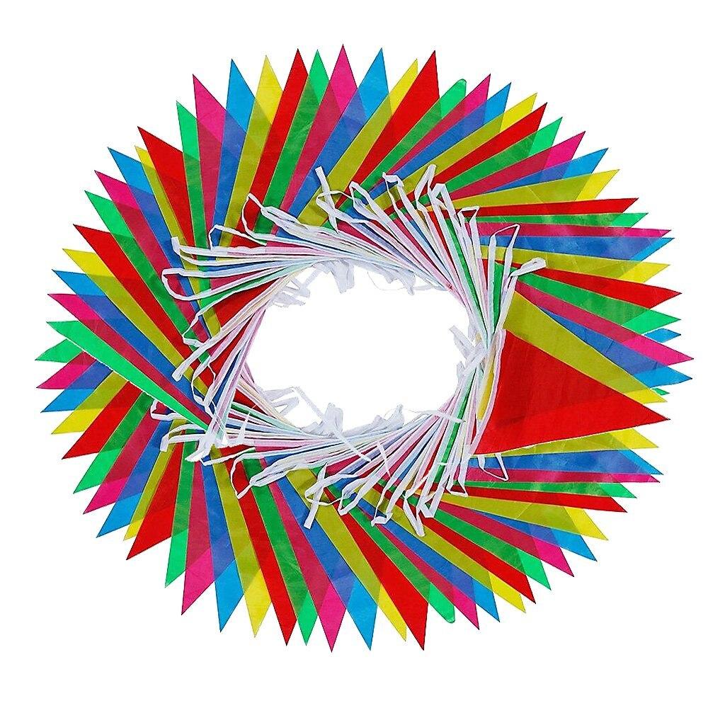 50 м длинные разноцветные флажки Оформление интерьера для дома и улицы Радужный Флаг праздничное украшение с 75 флажками