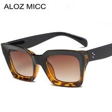 ALOZ MICC Hot Women Acetate Sunglasses Designer Men Square Frame High Quality Eyewear Trendy  Female Sun Glasses UV400 Q32