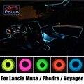 Carro Styling 9 M fio EL / Lancia Musa / delta / Voyager / carro Interior atmosfera romântica lâmpada / flexível luz Neon fria