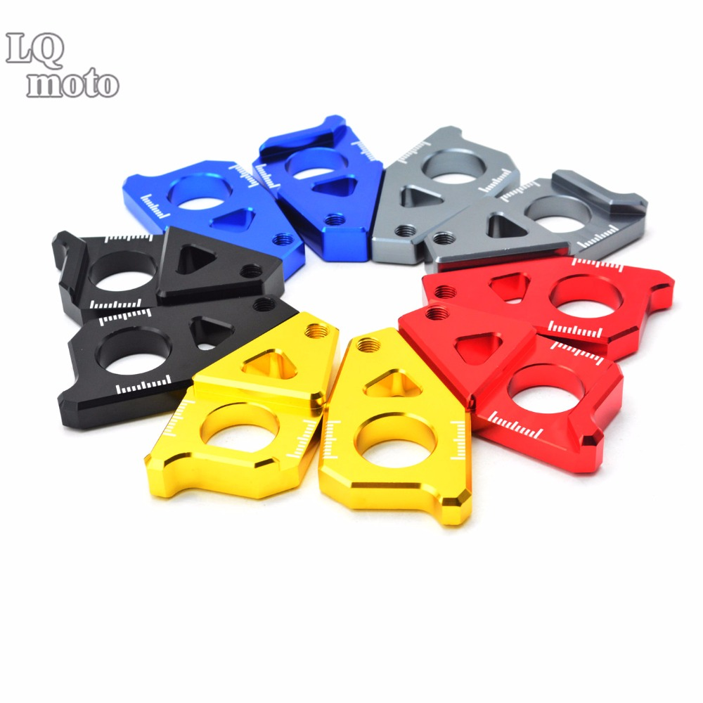Motorcycle Parts Accessories CNC Chain Adjusters Tensioners Catena for Yamaha YZF R1 2005-2015 2006 2007 2008 2009 2010 2011 aftermarket free shipping motorcycle parts eliminator tidy tail for 2006 2007 2008 fz6 fazer 2007 2008b lack
