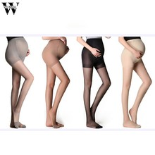 Stocking 1 Pair Stockings Pregnant Women Stockings Thin Pantyhose Summer Solid Oversized Bottom Stocking 2019 JAN22(China)