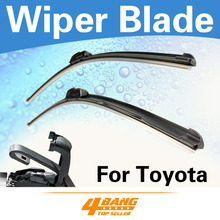 "Car-Styling 2PCS 19""+19"" Wiper Blades Windshield Bracketless Frameless Soft Rubber For Toyota Yaris 2006-2011"