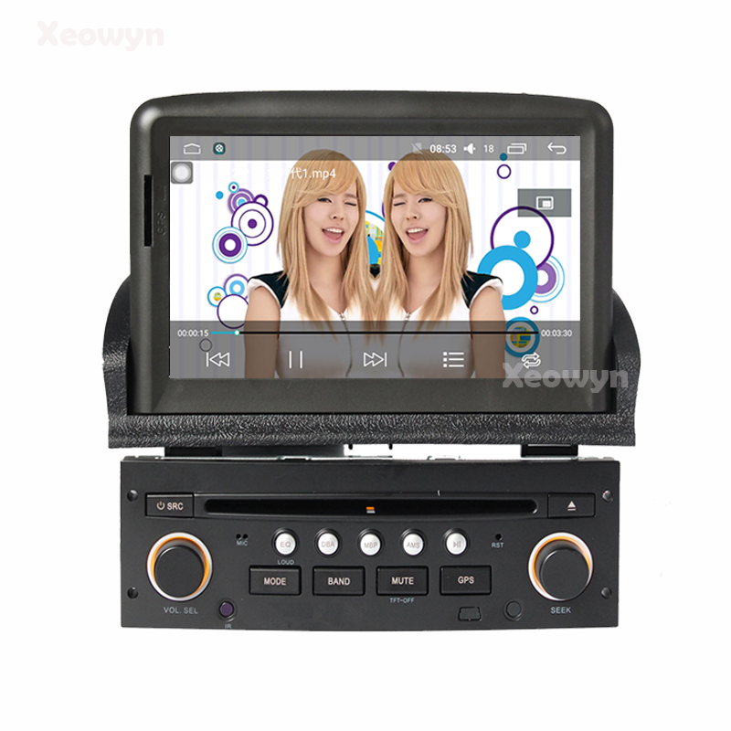 android 6 0 car dvd player gps auto radio for peugeot 307 2007 2008 2009 2010 2011 bluetooth. Black Bedroom Furniture Sets. Home Design Ideas
