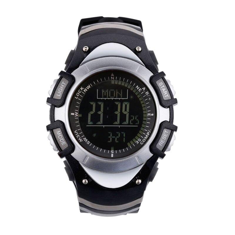 SUNROAD Sports Men Watch FR8204B-Backlight 3ATM Waterproof Compass Stopwatch Pedometer Outdoor Digital Watches Men Sliver цена