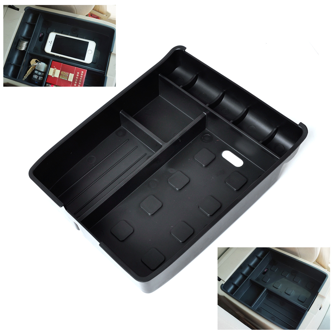 beler Inner Control Armrest font b Storage b font Secondary Glove Box Organized Container for Toyota