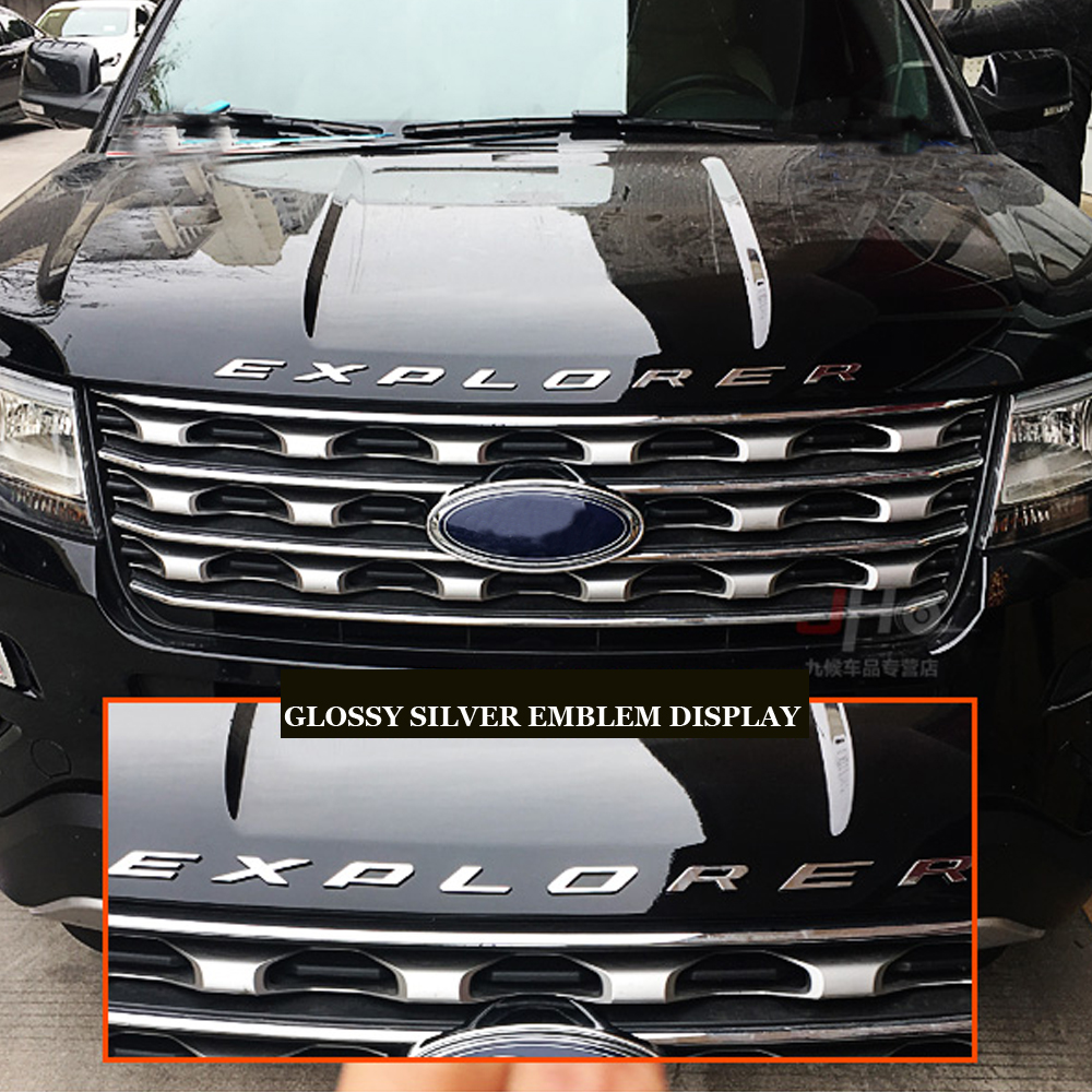 "2016-2018 Ford Explorer sport Grill emblem GLOSS black 9/"" 3D"