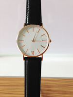 New Design Watches Rose Gold Case Leather Band Quartz Time