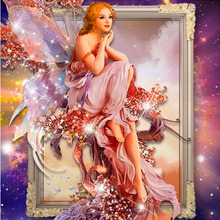 5D DIY Diamond Painting Cross Stitch Butterfly Fairy Mosaic Embroidery Rhinestone Craft Home Decor