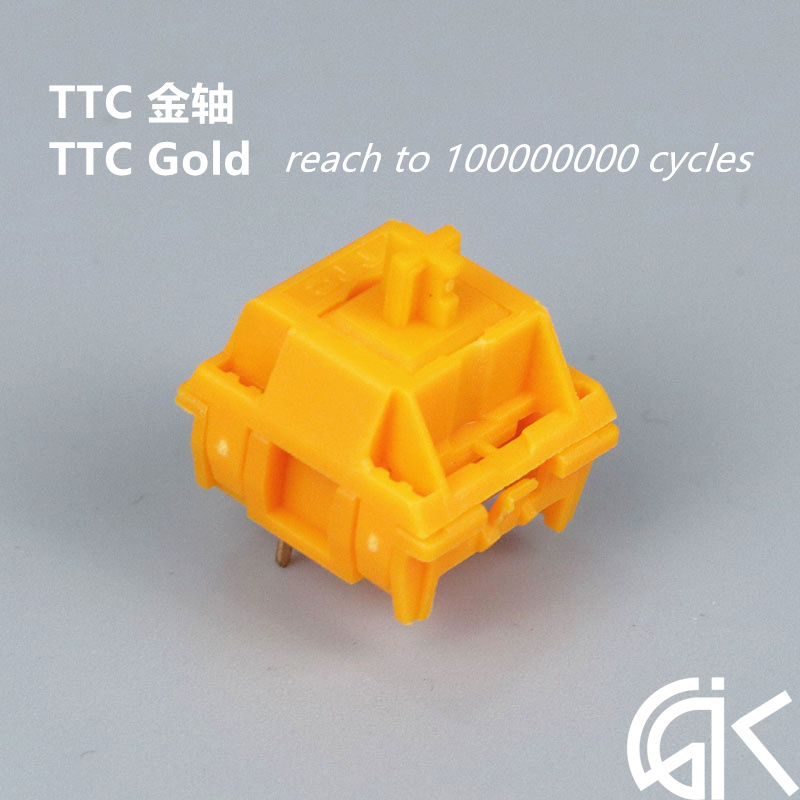 4pcs/pack New Arrival TTC Mechanical Keyboard Switch TTC Golden Shaft Gold Contact Keyswitch Life Up To 100 Millions Times