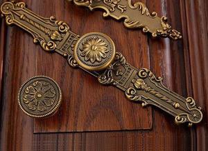 Комод ручки ящика ручки тянет ручки спинка Кухня ручки шкафа античная латунь богато мебель дверные ручки