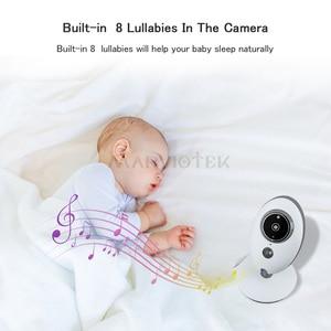Image 4 - Monitor do bebê sem fio lcd de áudio e vídeo rádio babá música intercom ir 24h portátil bebê câmera walkie talkie babá vb605