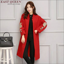 Winter coat women 2016 fashion trench coat for women red trench femme new arrivals womens windbreaker   AA1327