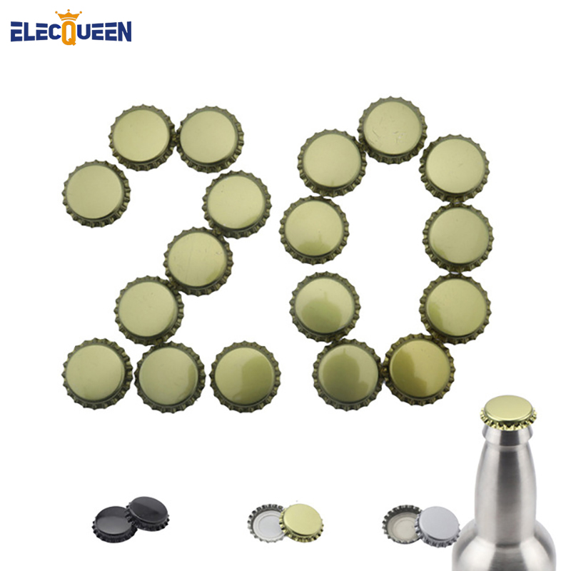 20pcs/lot Beer Bottle Caps Beer Lid Cover For DIY Home Brewing Beer Tool Color Gold/ Black/ Silver New Arrival