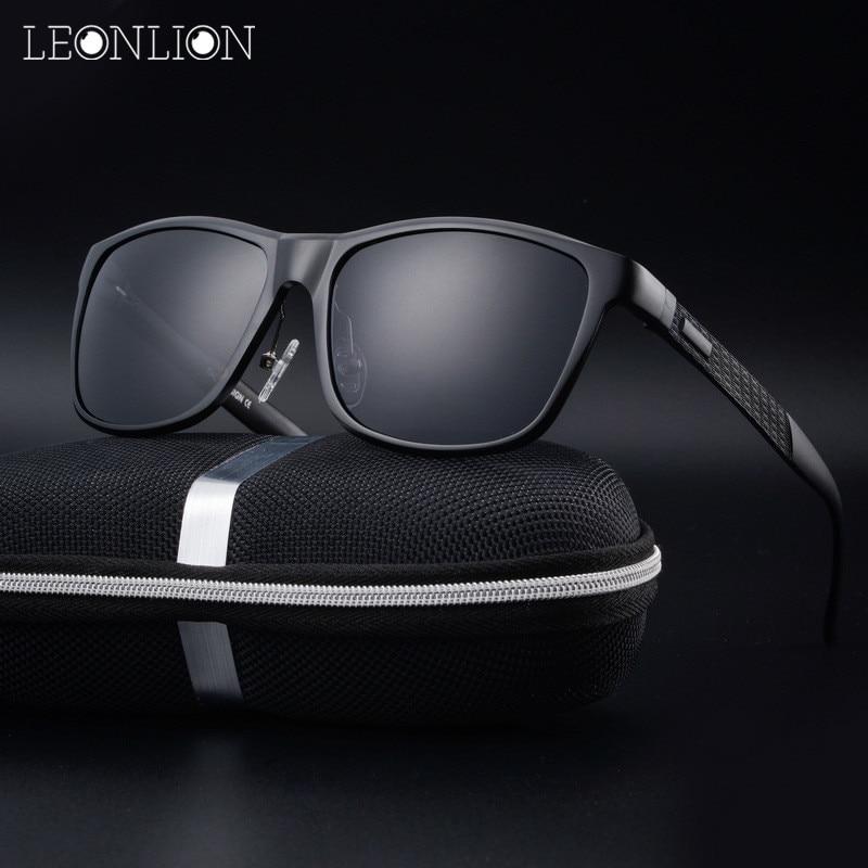 LeonLion Aluminum-Magnesium Alloy Polarized Sunglasses Men/Women Brand Design Sun Glasses HD Classic Retro Outdoor Glasses brand aluminum magnesium men s sun glasses polarized mirror lens outdoor eyewear accessories sunglasses for men