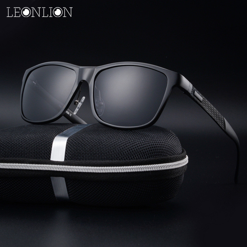 LeonLion Liga de Alumínio-Magnésio Polarizada Óculos De Sol Dos Homens/Mulheres de Design Da Marca Óculos de Sol Retro Clássico Óculos Ao Ar Livre