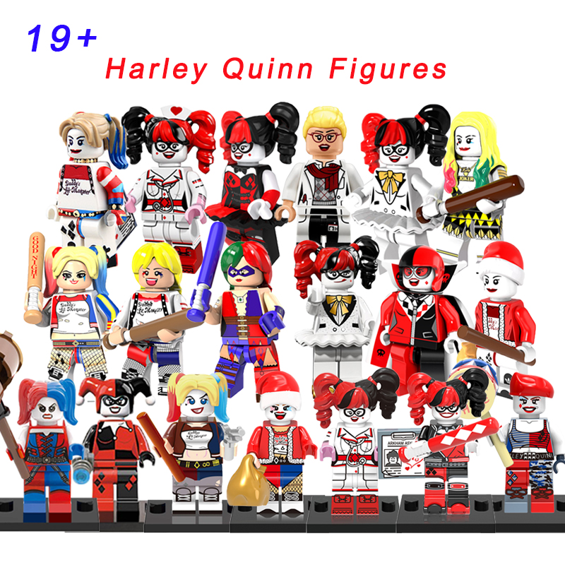 Harley Quinn Super Heroes Animated/Suicide Squad/Roller Derby/Nurse/Tutu/Disco 19+ Modelling Building Blocks Toys For Children